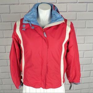 Lands End girls L/14 (4 in 1) ski jacket red blue